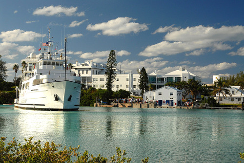 The BIOS Research Vessel Atlantic Explorer prepares to dock at the institute. Photo by Tiffany Wardman.  ...