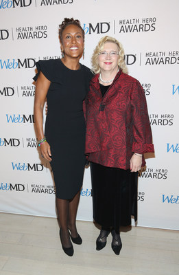 WebMD Health Hero Awards host Robin Roberts and WebMD Health Hero Advocate Award recipient Betty Ferrell, RN, PhD attend the 2016 WebMD Health Heroes Awards on November 3, 2016 in New York City.