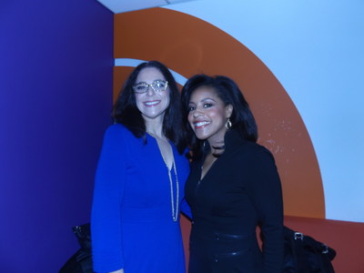 Pure Grown Diamonds President & CEO Lisa Bissell with NBC News TODAY anchor Sheinelle Jones in Green Room.