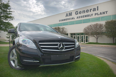 Am general rolls out first mercedes benz r class luxury for Mercedes benz manufacturing plant in usa