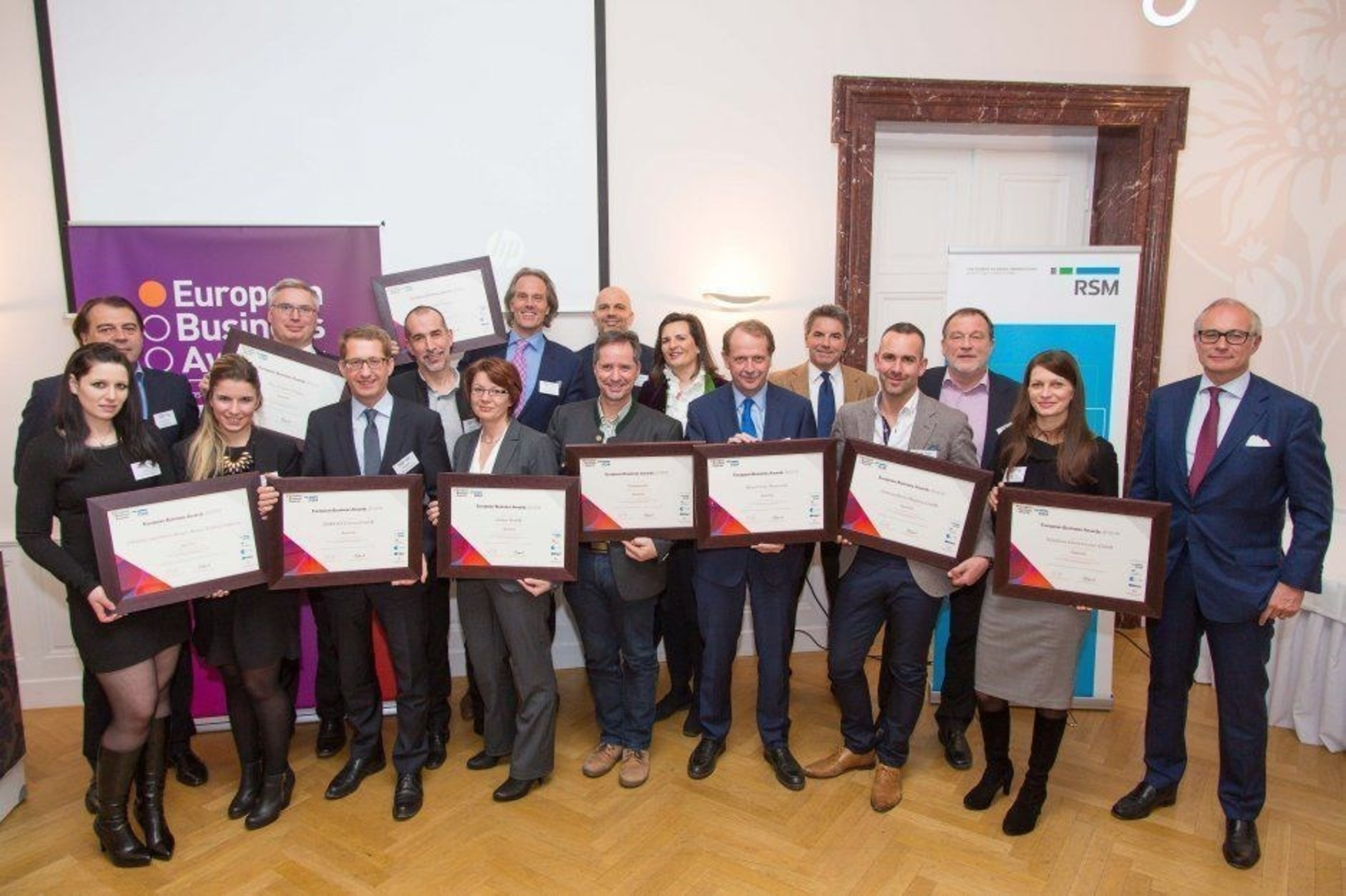 Austrian National Champions in the European Business Awards (PRNewsFoto/European Business Awards) (PRNewsFoto/European Business Awards)
