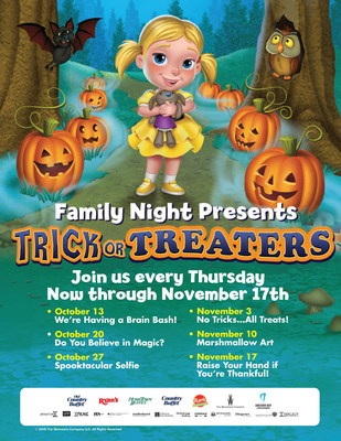 Ovation Brands and Furr's Fresh Buffet present Trick or Treaters Family Night from October 13th through November 17th.