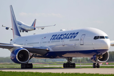Transaero Airlines Offers New Routes between Moscow and US Cities in Cooperation with Virgin America.  (PRNewsFoto/Transaero Airlines)