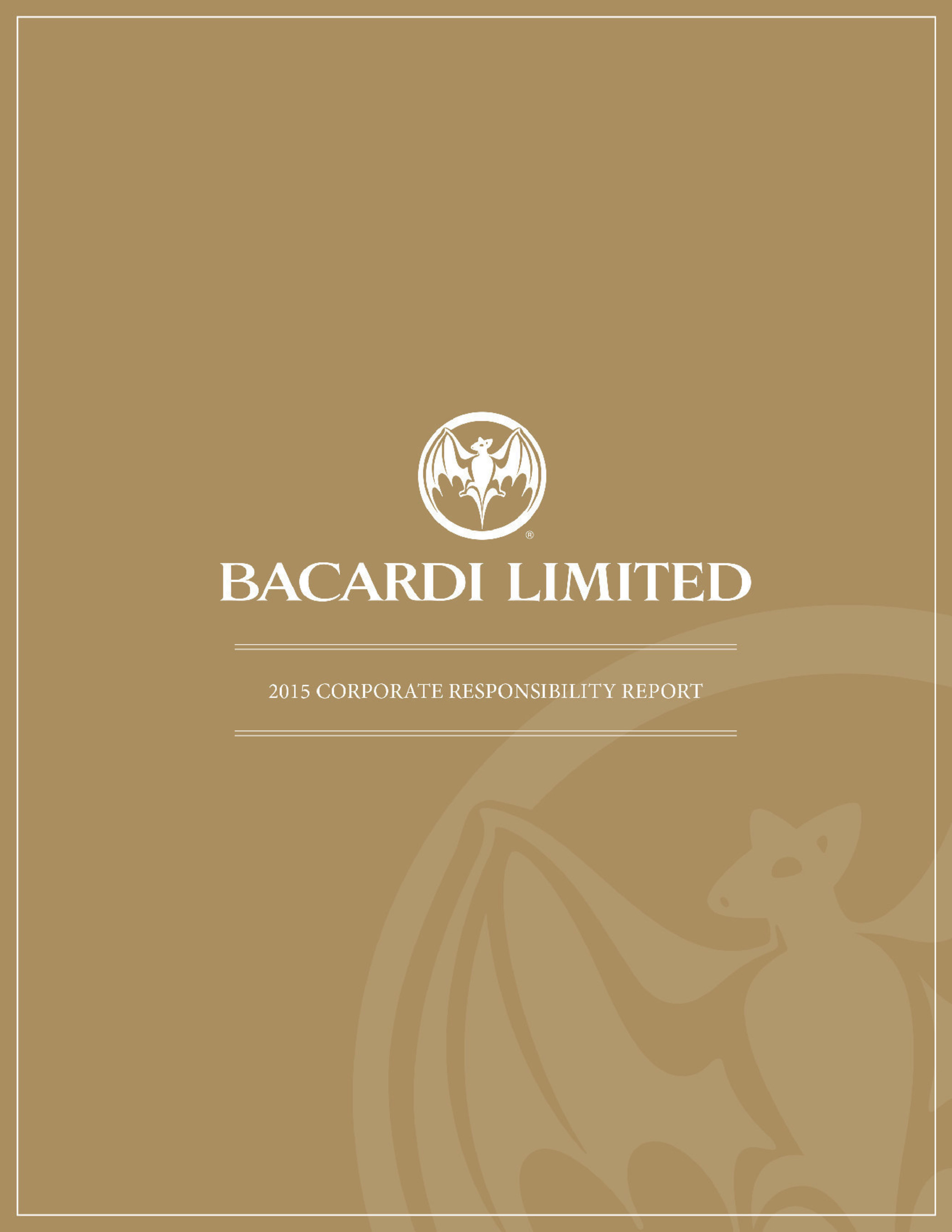 """Family-owned Bacardi Limited, the world's largest privately held spirits company, fully complied with its voluntary marketing codes, improved upon its environmental and operational efficiencies, continued to invest in its global """"Good Spirited"""" sustainability initiative, increased engagement with responsible suppliers, and progressed with responsible marketing programs. These accomplishments highlighted in its eighth Corporate Responsibility (CR) Report reinforce the Company's commitment to its stakeholders."""