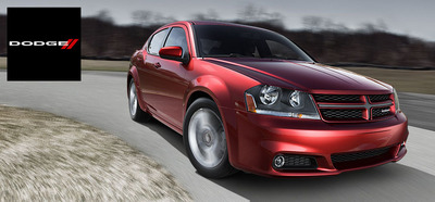 The 2014 Dodge Avenger can be equipped with the award-winning power of a 3.6-liter V-6 Pentastar engine.  (PRNewsFoto/Briggs Auto Group)