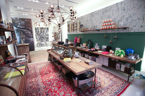 Cool Hunting for Gap pop-up shop, pictured here, celebrates New York's designers this holiday season on 5th  ...