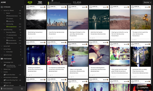 Postano adds metrics and trends to all social streams in its updated social monitoring view. (PRNewsFoto/TigerLogic Corporation) (PRNewsFoto/TIGERLOGIC CORPORATION)