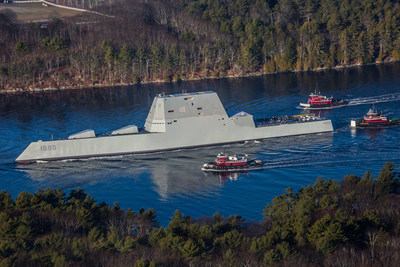 DDG 1000 set sail for the first time on December 7, 2015 for initial sea trials