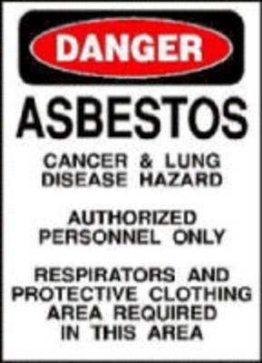 Asbestos Warning. (PRNewsFoto/Mesothelioma Victims Center) (PRNewsFoto/MESOTHELIOMA VICTIMS CENTER)