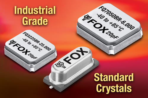 Popular Industrial Grade Crystals from Fox Now Stocked as Standard (PRNewsFoto/Fox Electronics)