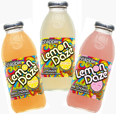 Exclusively only at participating 7-Eleven stores this summer, Snapple Lemon Daze flavors of Mango, Lemonade and Pink Lemonade are available at two for $2.22 through Sept. 5.  (PRNewsFoto/7-Eleven, Inc.)