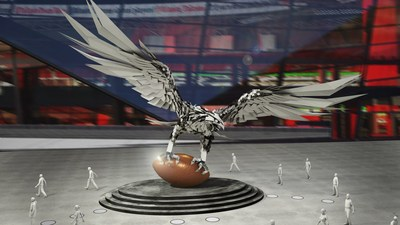 Mercedes-Benz Stadium and Savannah College of Art and Design (SCAD) today revealed the first renderings of two signature sculptures to be installed at Mercedes-Benz Stadium in Atlanta, Georgia, as well as the artists selected for a comprehensive art collection called The Art Collection at Mercedes-Benz Stadium, which will feature over 100 works of art commissioned for spaces throughout the two-million-square-foot building expertly curated by SCAD. This falcon, rising 41.5 feet tall with a wingspan of...