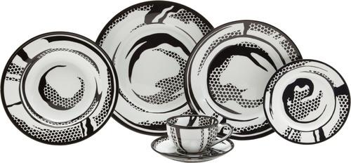 Lichtenstein Dish Set, Dishes, 1966.  (PRNewsFoto/Barneys New York)