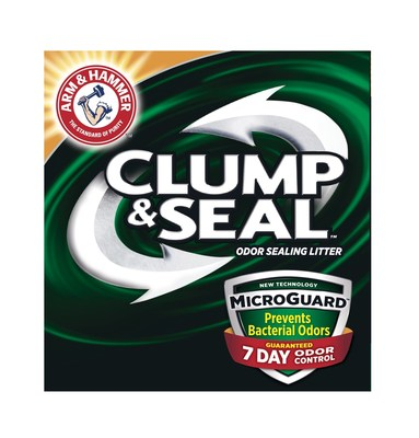 ARM & HAMMER(TM) Clump & Seal(TM) MicroGuard(TM) Cat Litter is the only cat litter that seals and destroys immediate odor, plus, prevents the growth of future bacterial odor for 7-day odor control, guaranteed.