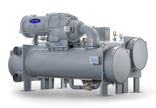 Carrier's new AquaEdge 19XR/XRV chiller provides environmentally responsible, reliable and quiet cooling for a variety of large-scale projects including data centers, large commercial buildings and infrastructure projects. (PRNewsFoto/Carrier Corp.) (PRNewsFoto/CARRIER CORP.)