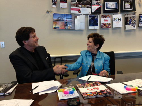Dr. Chuck Cadle, CEO of Destination Imagination and Nancy Conrad, chairman of the Conrad Foundation announced ...