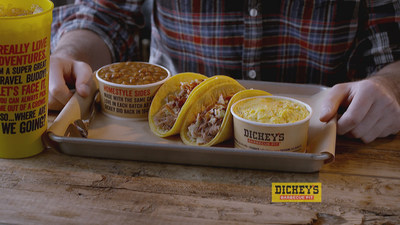 Dickey's new Pulled Pork Street Tacos are available as a meal, add-on or catering option