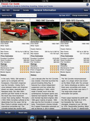 Free Mobile App Brings Classic Car Buyers Up to Speed on Pricing