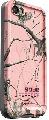 Realtree AP Pink camouflage pattern for LifeProof fre for iPhone 5 and iPhone 5s.  (PRNewsFoto/LifeProof)
