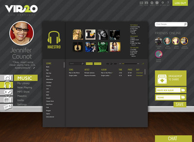 The new Vir2o music service, called Maestro, allows users to play, share, download and organize music files. It also provides a platform for both established and emerging artists to self publish and promote their content. (PRNewsFoto/East Coast Diversified Corporation) (PRNewsFoto/EAST COAST DIVERSIFIED CORP...)