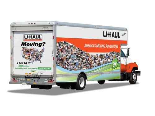 #MyUhaulJourney - My U-Haul Journey... Starring You! U-Haul is encouraging the public to send photos of their moving adventures, past and present to be featured in eye-catching collages on the sides of U-Haul In-Town moving van. uhaul.com/myphotos.  (PRNewsFoto/U-Haul)