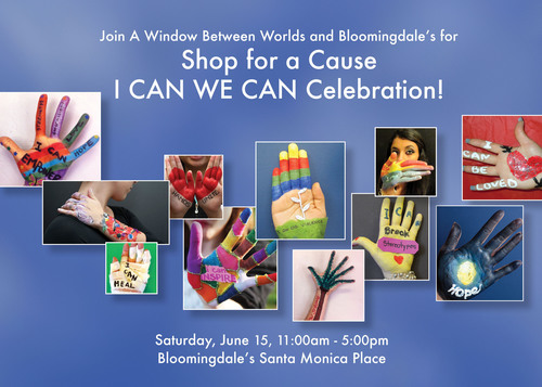 Shop for a Cause I CAN WE CAN Celebration, Saturday, June 15, from 11:00 AM to 5:00 PM.  (PRNewsFoto/A Window Between Worlds)