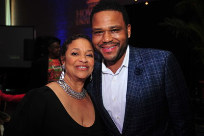 Howard University alumni writer/director/choreographer Debbie Allen and award-winning Actor Anthony Anderson at the Cathy Hughes School of Communications Celebratory Brunch at Howard University on Sunday October 23, 2016 in Washington.