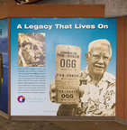 Travelers to Maui will no longer have to puzzle over why Kahului Airport's three-letter airport code is OGG. They need only spend a few minutes at a new wall paying tribute to Capt. Jimmy Hogg, the Hawaiian Airlines pilot and aviation pioneer for whom the airport is named. The 8-foot tall, 42-foot wide wall at Gate 19 was presented this morning by Hawaiian Airlines, the State Department of Transportation (DOT) and the Transportation Security Administration (TSA).  (PRNewsFoto/Hawaiian Airlines)