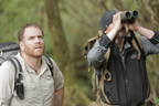 "Josh Gates hunts for the Yeti in an epic four-part investigation, ""Expedition Unknown: Hunt for the Yeti."" Here, Gates searches for clues in the forests of Bhutan."