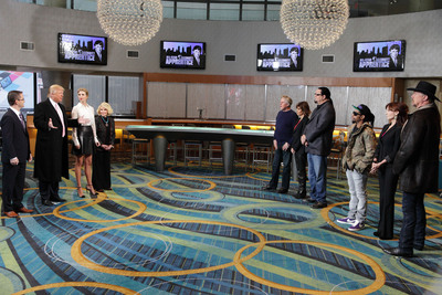 """LG Marketing Senior VP James Fishler joins """"All-Star Celebrity Apprentice"""" Executive Producer Donald Trump, judge Ivanka Trump and guest judge Joan Rivers as they meet with Team Plan B (Gary Busey, Lisa Rinna and Penn Jillette) and Team Power (Lil Jon, Marilu Henner and Trace Adkins) to discuss the task during the LG episode, which airs on NBC this Sunday, April 28, at 9 p.m. ET/8 p.m. CT.  (PRNewsFoto/LG Electronics USA, Inc.)"""