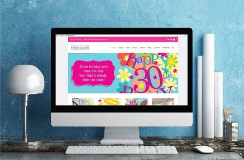 The new fully responsive Cards Galore site created by Leicester Web Designers has now launched (PRNewsFoto/Cards Galore) (PRNewsFoto/Cards Galore)