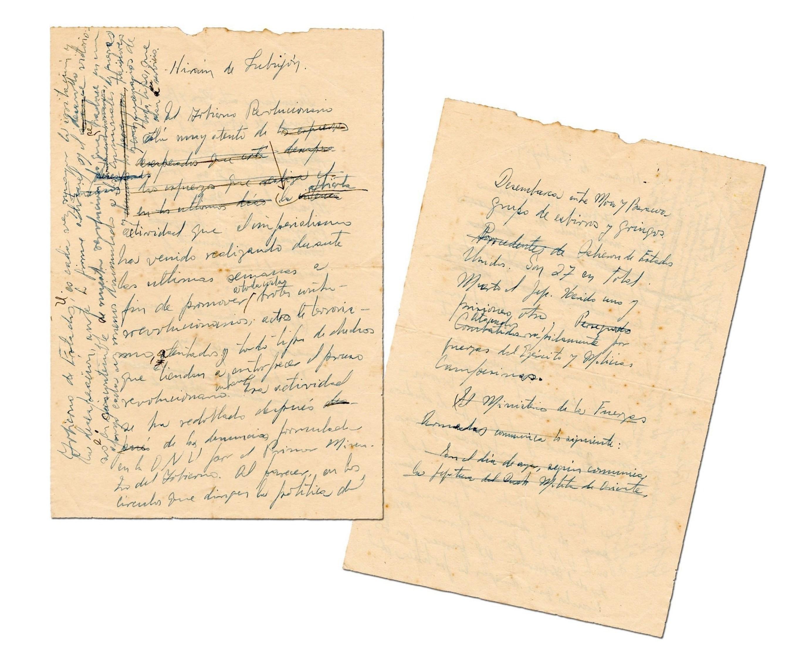 Fidel Castro Handwritten Bay of Pigs Manuscript Hits the Auction Block