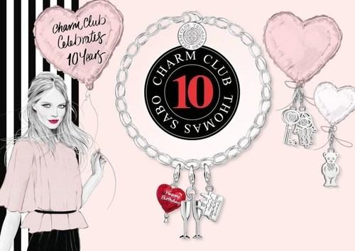 """Love, Luck, Fashion & Passion"": Let´s celebrate 10 years Charm Club with your favorite designs! #CharmClub10 (PRNewsFoto/Thomas Sabo GmbH & Co. KG) (PRNewsFoto/Thomas Sabo GmbH & Co. KG)"