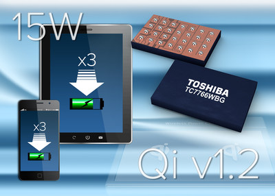 Toshiba TC7766WBG is the industry's first Qi v1.2-compliant 15W wireless power receiver.