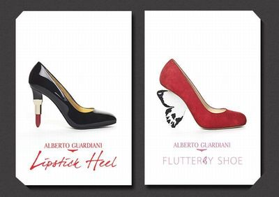 Alberto Guardiani's Lipstick Heel and Flutterby Shoe in SHOE OBSESSION at the Museum at FIT