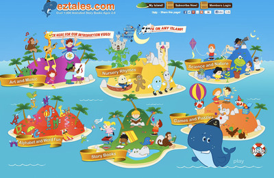 EZTales Home Page.  (PRNewsFoto/EZTales.com)