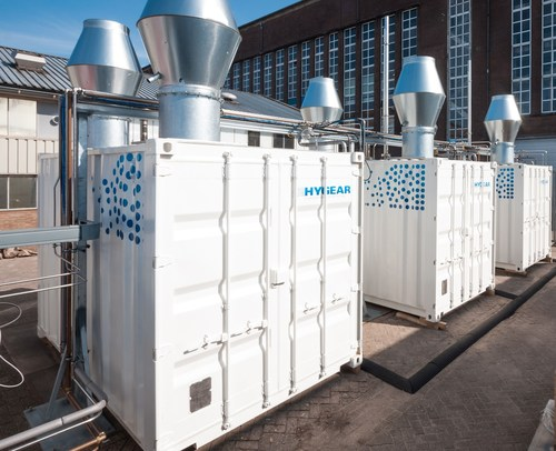 Compact on-site hydrogen generation systems (PRNewsFoto/HyGear)