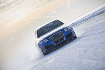 Nokian Tyres Fastest on Ice. The new world record for fastest car on ice was achieved by Nokian Tyres, when test driver Janne Laitinen drove at a speed of 335.713 kilometres per hour (208.602 mph) on the ice of the Gulf of Bothnia on 9 March. Grip and speed like never before were ensured by the new spearhead product for the world's leading manufacturer of winter tyres – the Nokian Hakkapeliitta 8 studded tyre. More: www.nokiantyres.com/Fastest-On-Ice (PRNewsFoto/Nokian Tyres)