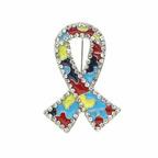 Autism Awareness Jigsaw Pin.  (PRNewsFoto/Inspired Silver)