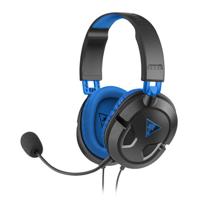 Turtle Beach's Recon 60P features a new lightweight and comfortable design, 40mm Neodymium speaker drivers with synthetic leather-wrapped ear-cups for better noise isolation and bass response, an adjustable and removable boom mic, and in-line controls that place Mic Mute and Master Volume conveniently at your fingertips.