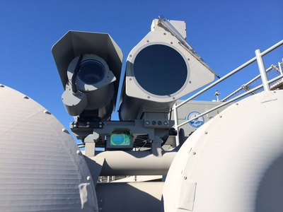 Ball Aerospace has been awarded a $23.9 million dollar firm-fixed-price contract for the Stalker SLROESS system to project U.S. Navy ships. The NATO Seasparrow Project Office contract includes $10 million in options for additional work to significantly enhance the Navy's ability to detect, classify, identify and determine hostile intent of potential threats to its ships.  (PRNewsFoto/Ball Aerospace & Technologies Co)