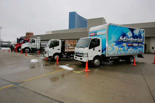 The Green Truck Ride-and-Drive at The Work Truck Show(R) 2014 will include a closed-access driving area in addition to the traditional open road test drive course. The Work Truck Show, North America's largest work truck event, runs March 5-7 at the Indiana Convention Center in Indianapolis, IN. Educational programing begins March 4. Sponsored by Hino Trucks, the Green Truck Ride-and-Drive is open to all show attendees on Wednesday, March 5, and Thursday, March 6.  (PRNewsFoto/NTEA)