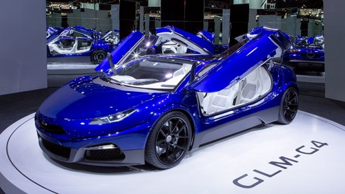 GLM shows off G4 electric supercar at 2016 Paris Auto Show (PRNewsFoto/GLM Press Office)
