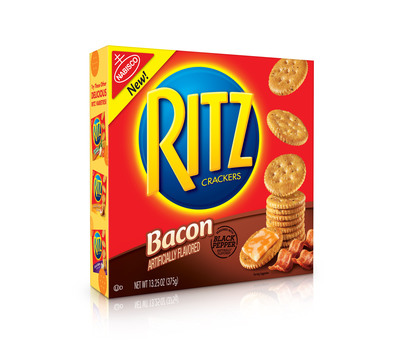 RITZ Bacon Crackers.  (PRNewsFoto/Mondelez International)