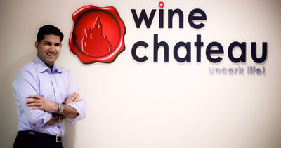 Saurabh Abrol, CEO of Wine Chateau, celebrates 10 years of online wine shipping to over 45 states.  (PRNewsFoto/Wine Chateau)
