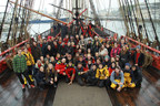 Crew on the deck of the Hermione