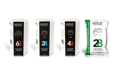 Rekze Laboratories has developed some of the most complex products on the market to help treat hair thinning and hair loss and to stimulate hair growth. The line of anti-hair loss and hair growth stimulating products consists in the '63' shampoo, '43' conditioner, '24' treatment serum, and '28' scalp cleaning wipes.