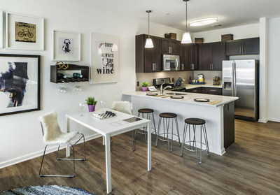 Residences at 221 Bergen include upscale features such as gourmet kitchens with quartz countertops, Pendant lighting, soft/self-close drawers and doors, and Whirlpool(TM) stainless-steel appliances. For details, visit https://221bergen.com/residences/.