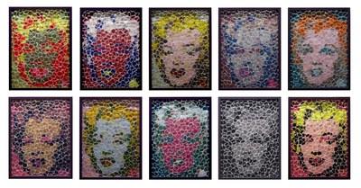 David Datuna (B. 1974 - ), Nostalgia for Warhol, 2014, Mixed Media Wall Sculpture Installation