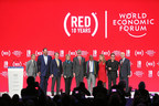 (RED) marks ten years fighting AIDS; Recognizes private sector partners which have contributed $350 million to the Global Fund to fight AIDS, Tuberculosis and Malaria